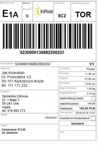 najzdrowsza-bielizna-etykieta-kurierska