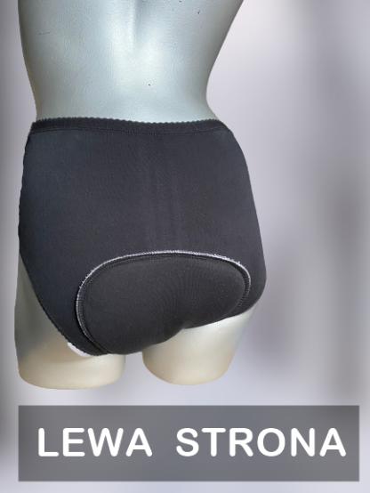 wielorazowe majtki na spore nietrzymanie moczu czarne proste