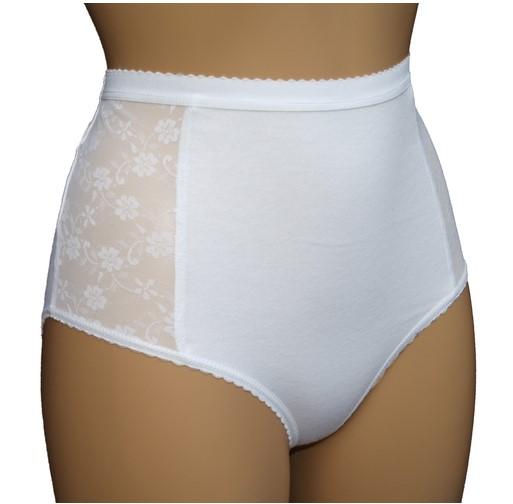 wielorazowe majtki chłonne na nietrzymanie moczu z wbudowanym wkładem chłonącym wilgoć. białe, wysoki stan