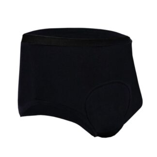 bariatryczne uniwersalne majtki na nietrzymanie moczu, czarne, bawełniane