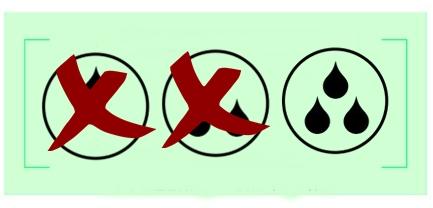 diagram z kroplami szeregujący bieliznę na nietrzymanie moczu według chłonności - trzy krople czyli bielizna na duże nietrzymanie moczu