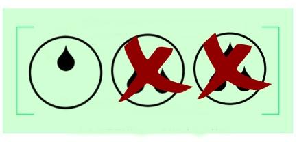 diagram z kroplami szeregujący bieliznę na nietrzymanie moczu według chłonności - jedna kropla czyli bielizna na małe nietrzymanie moczu