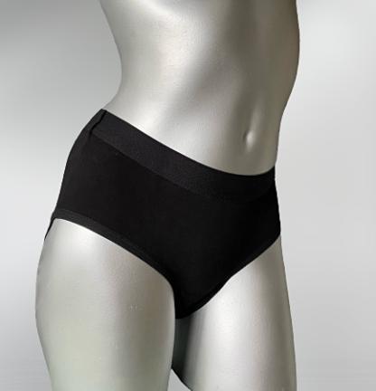 majtki chłonne damskie na lekkie nietrzymanie moczu oooops pant, czarne, zdjęcie na srebrnym manekinie